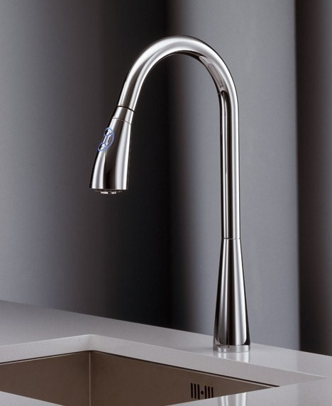 Delightful Touch Sensor Kitchen Faucet By Newform