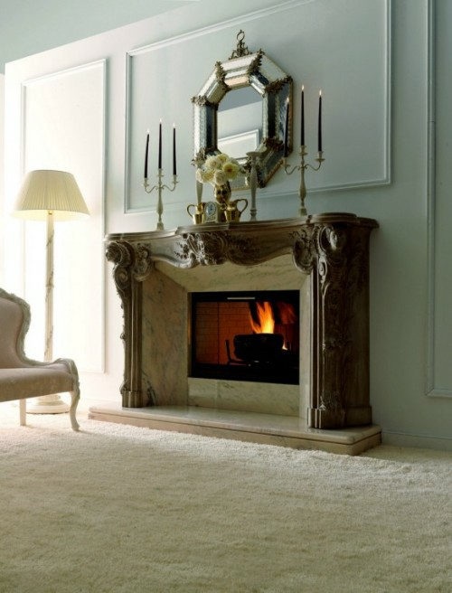 Classic Italian Fireplaces From Savio Firmino