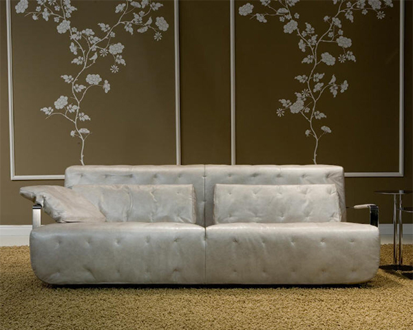 Modern Leather Sofa From Borzalino. View In Gallery