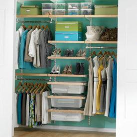 Birch & White elfa décor Chic Reach-In Closet