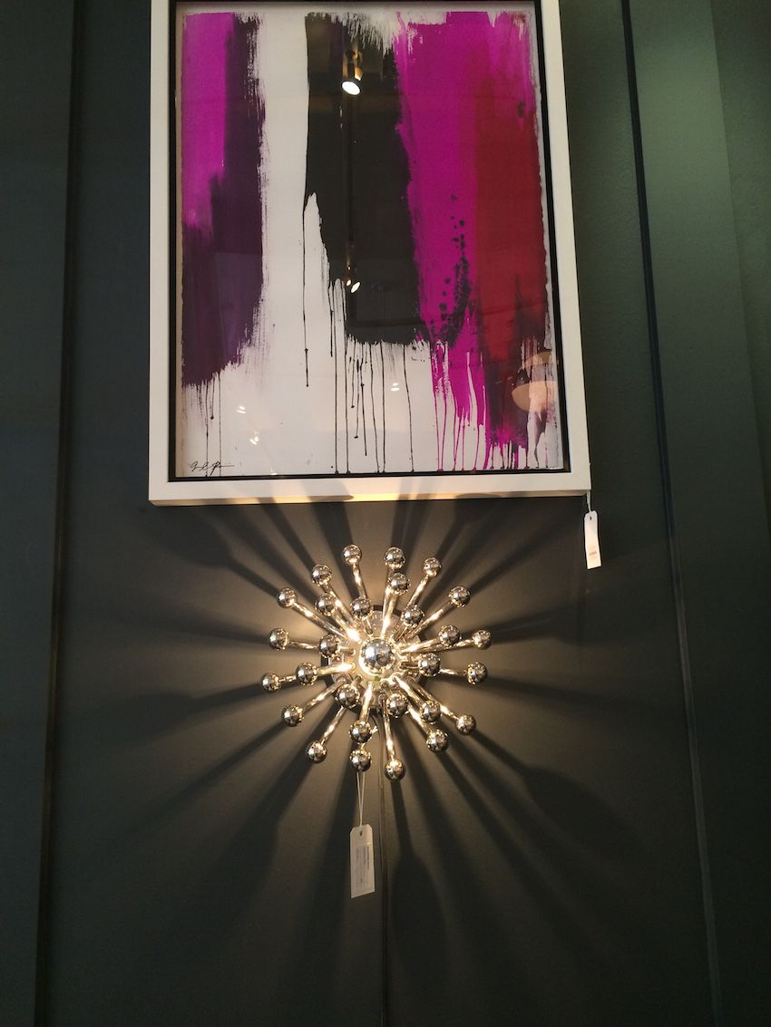 Jonathan Adler's small Anemone light fixture is a versatile wall sconce that is art as well as lighting.