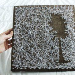 DIY Personalized String Art – Tree