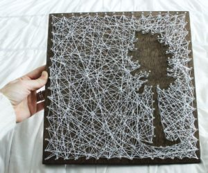 DIY Personalized String Art – Tree
