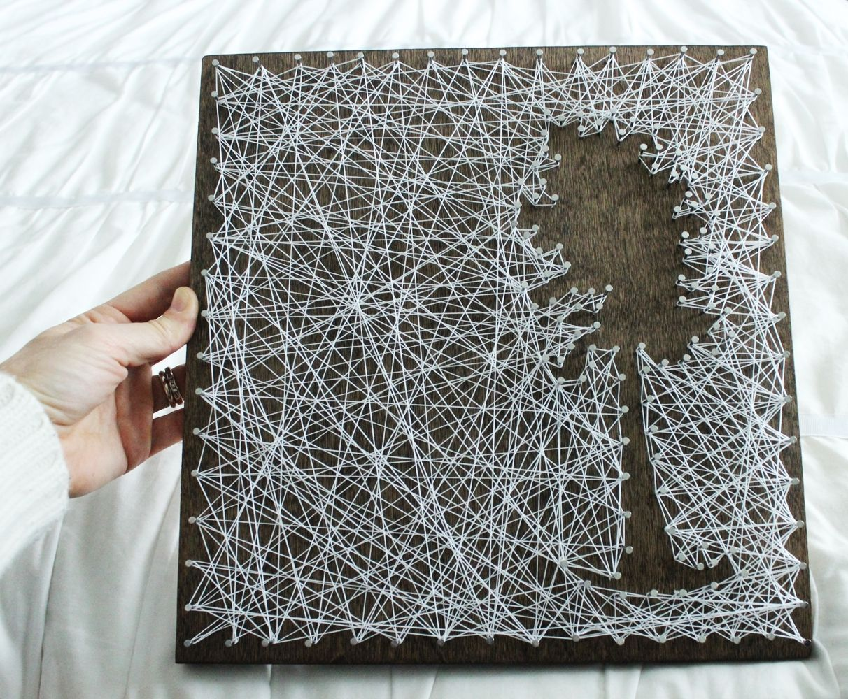 DIY InverseString Art – Tree