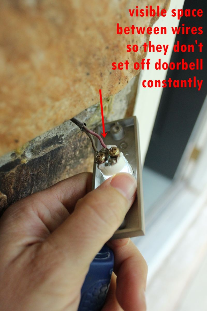How To Replace A Doorbell Button Fast And Easy Diy Project Rewiring Old Make Sure The Wires Dont Touch Each Other