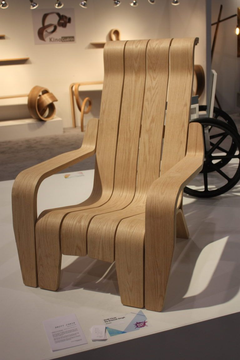 "New talent is exciting and this chair is an example of what budding designers are doing. Ryerson University's Anish Singh presented this chair design in Toronto in early 2016. Called the Drift Chair, it evokes a Adirondack chair design but also looks far more comfortable. Fabricated using digital techniques such as 3D modelling, laser cutting and CNC milling, the designer says it is ""an ode to the driftwood that washes up on the shores of Ontario's lakes."" Gorgeous."