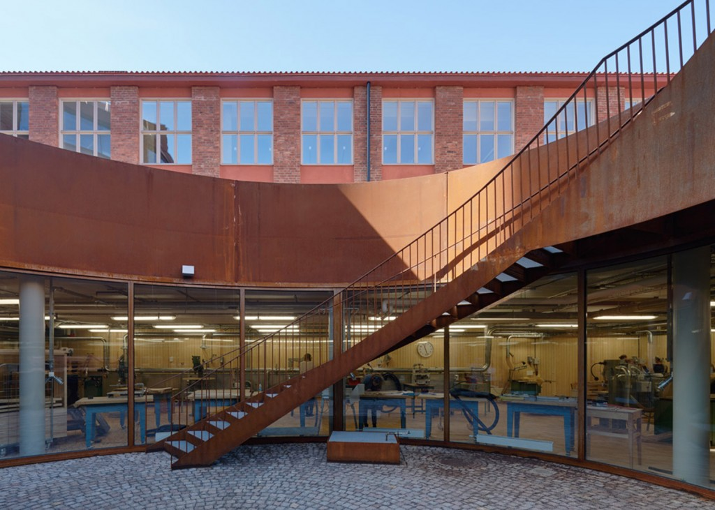 Stockholm's Royal Institute of Technology Interior Steel Corten