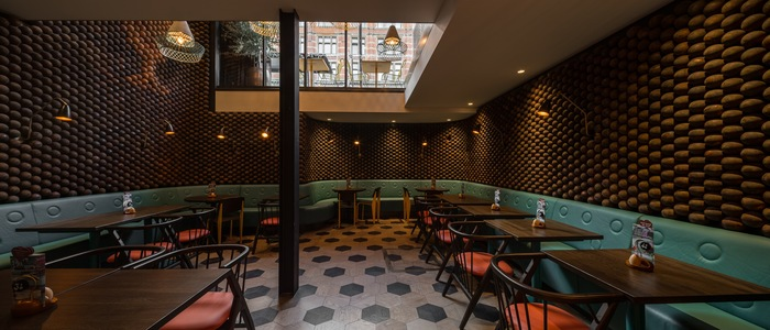 Nando's Old Street by Moreno Masey Wall Design