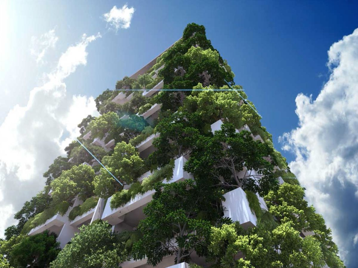 World's tallest residential vertical garden