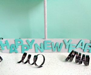 DIY New Year's Eve Table Centerpiece