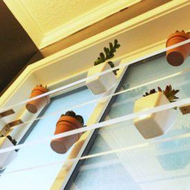 Modern diy acylic shelves on the window project