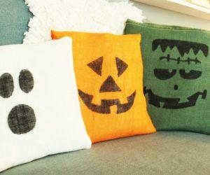 DIY Cute Burlap Halloween Pillows: Spookily Simple