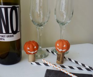 Jack O'Lantern Wine Stopper DIY Project for Halloween