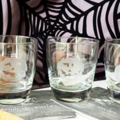 Easy Jack O'Lantern Cocktail Glass DIY for Halloween