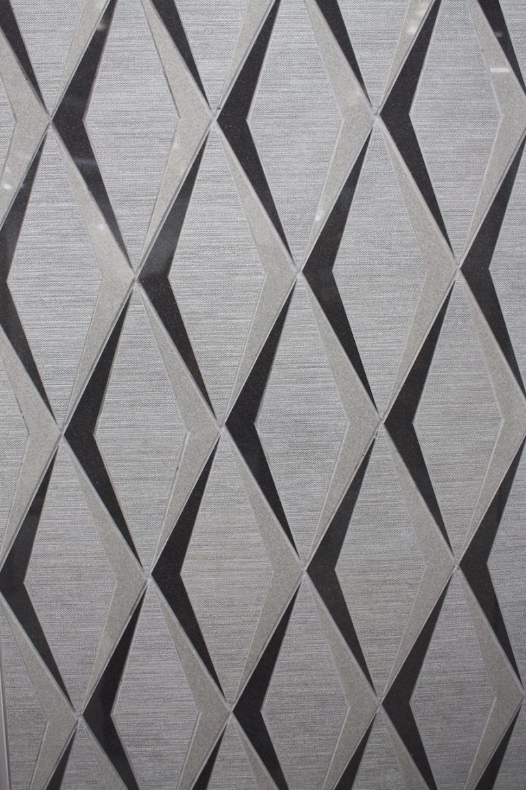 The shadows in this pattern are far more modern than a straight diamond repeat.