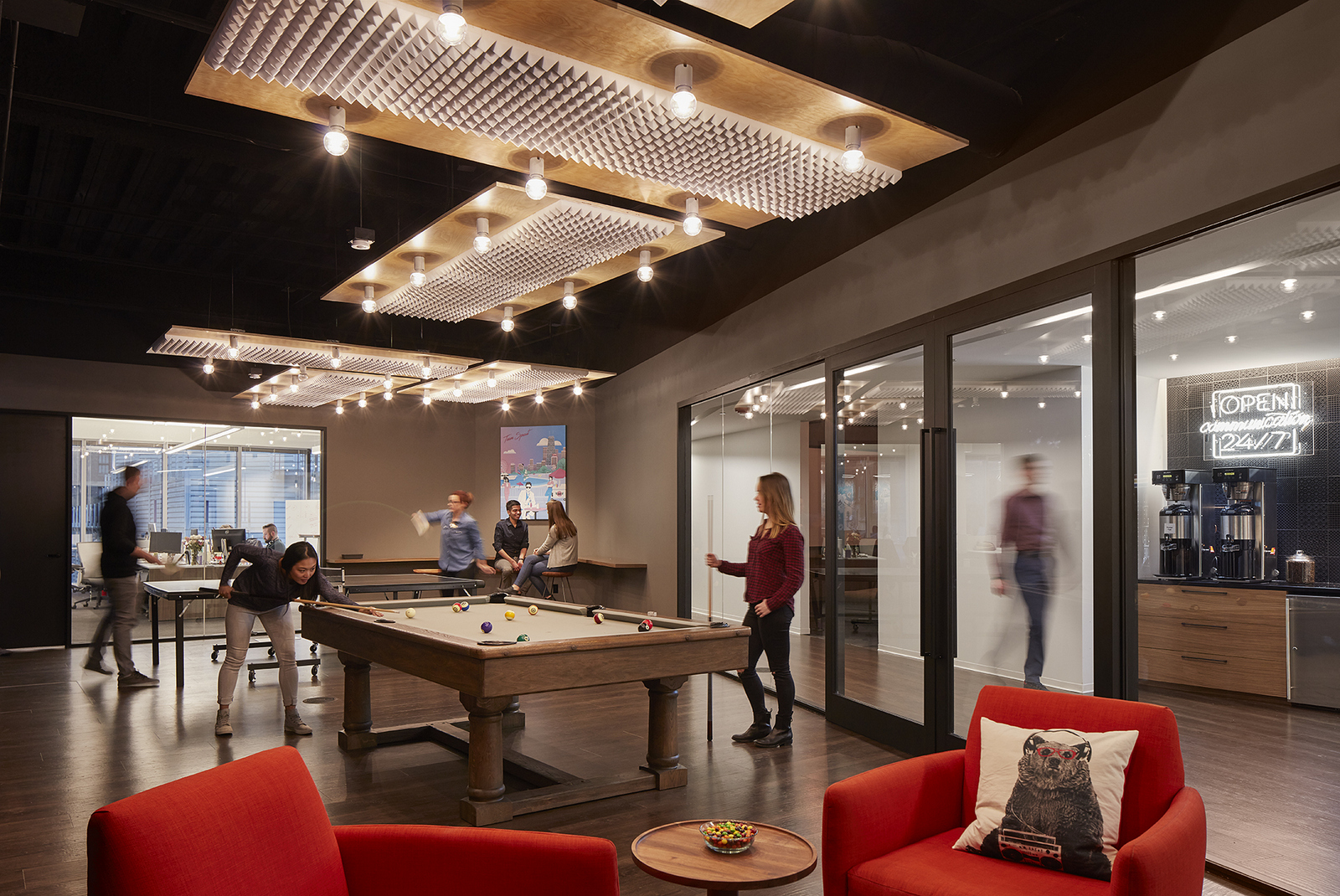 Cool Office Game Room Designs With Homey Features
