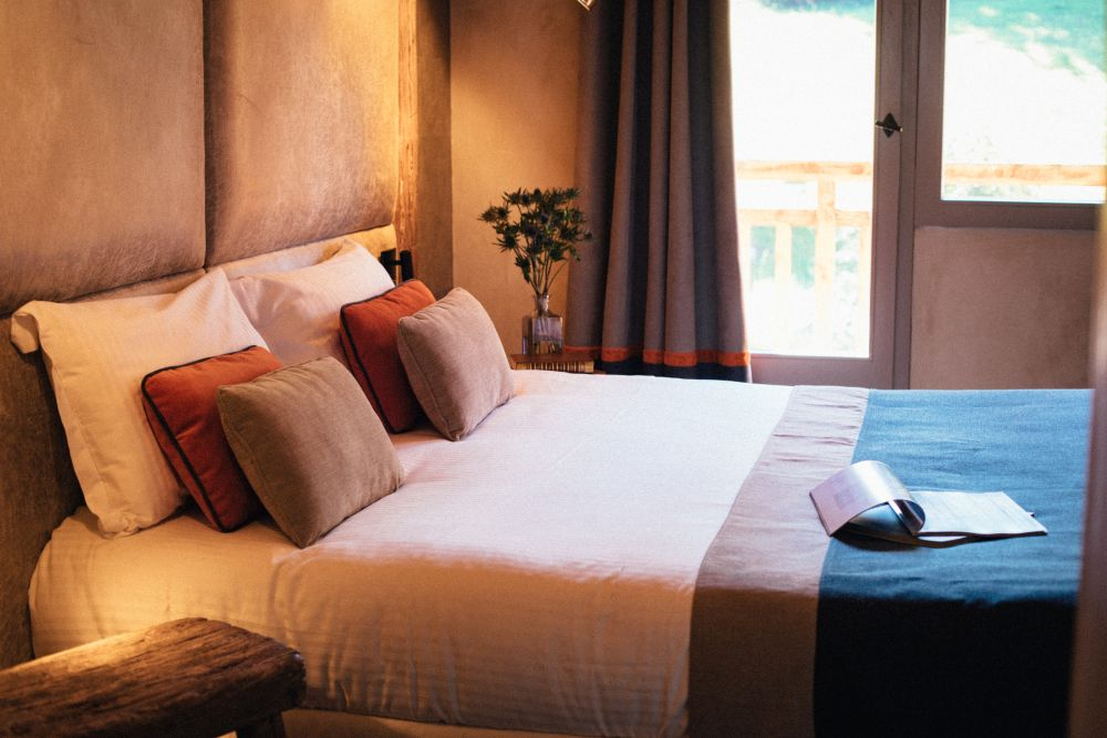 The suites and bedrooms range in size but even the smaller ones have enchanting views