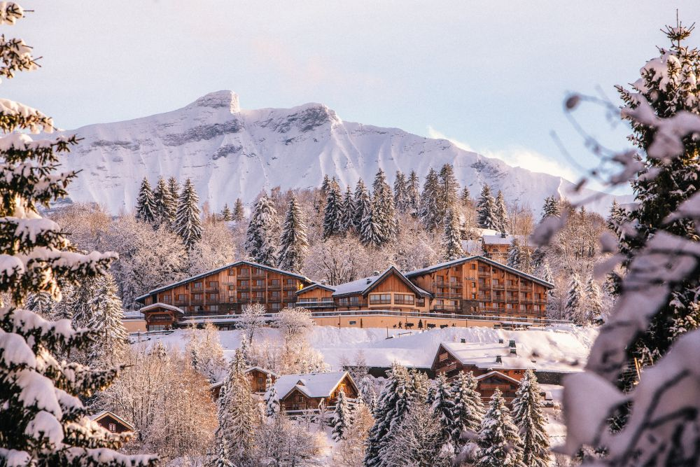 The hotel is situated close to the Mont d'Arbois Massif and this offers gorgeous panoramic views