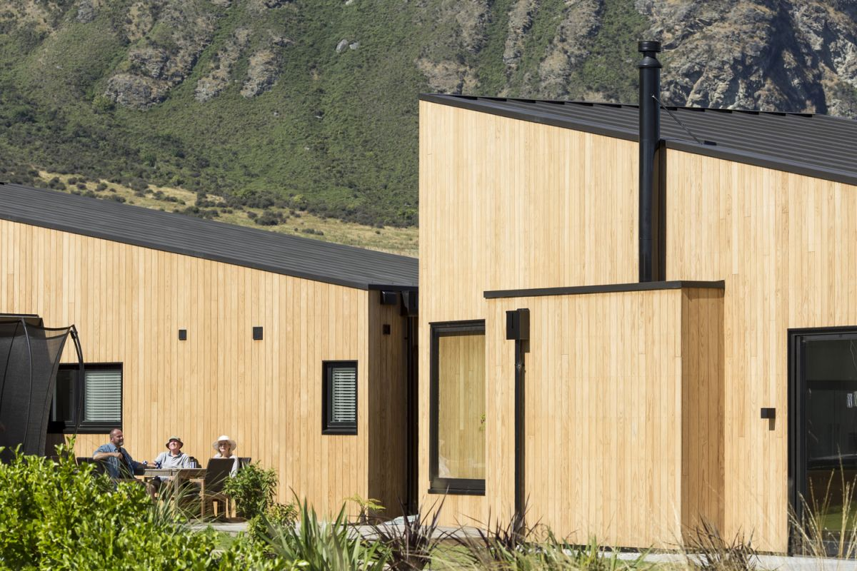 The overall architecture and design of the house were inspired by the rural vernacular and the topography