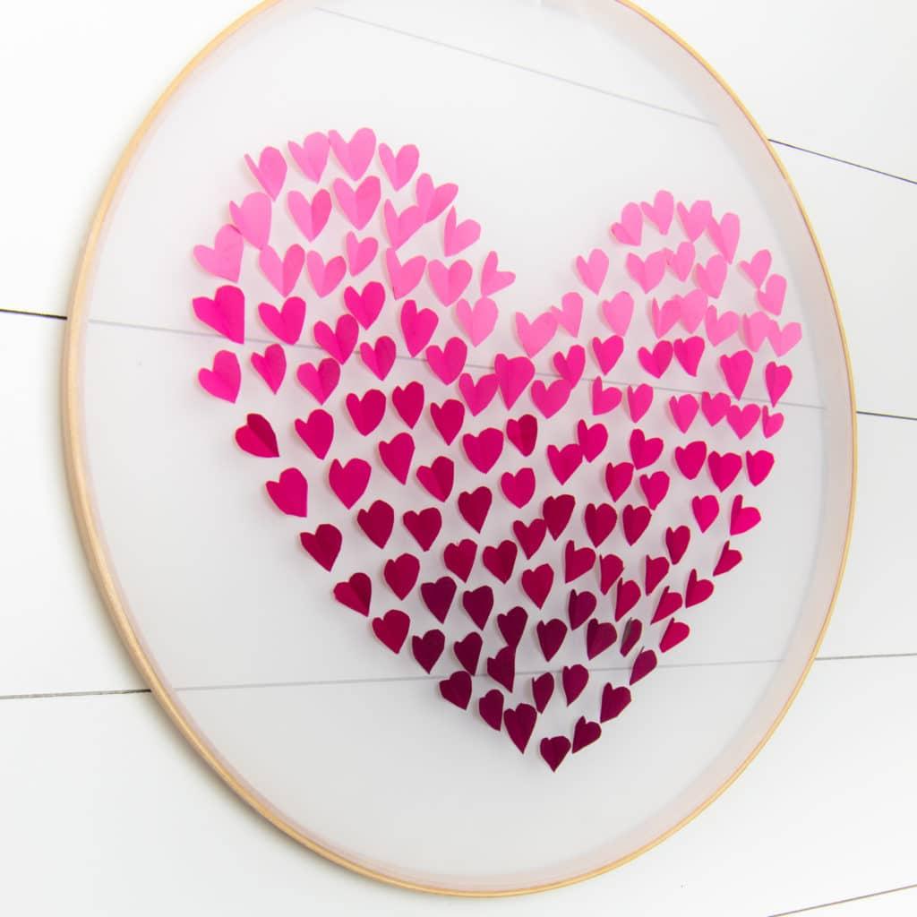 Valentine's day 3D heart decoration