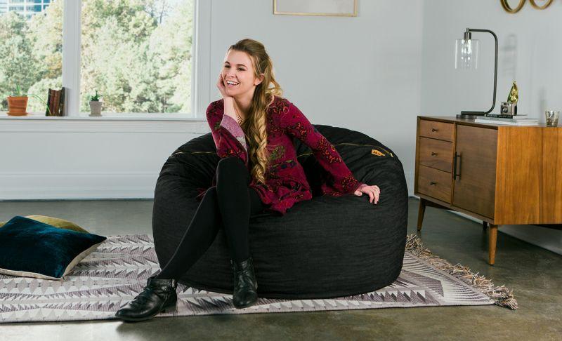 Denim Saxx 4' Bean Bag Chair